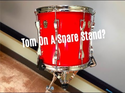 mounting a tom on a snare stand pros cons youtube. Black Bedroom Furniture Sets. Home Design Ideas
