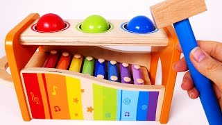 Learn Colors with Pounding Ball Table and Xylophone for Children