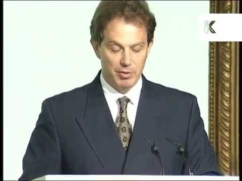 1996 Tony Blair Announces New Labour New Business Tour, Archive Footage