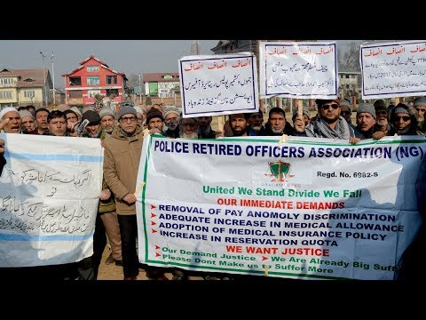 Retired police personal demand removal of pay anomalies