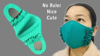 NEW HOT CUTE MASK NO need RULER no elastic band cover fit face nose mouth