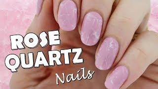 Quick and Easy Rose Quartz Nails!