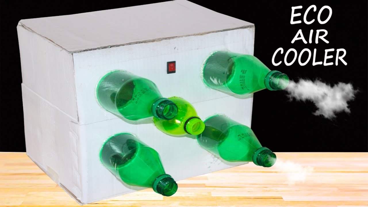 How To Make Eco Air Cooler At Home Using Plastic Bottle