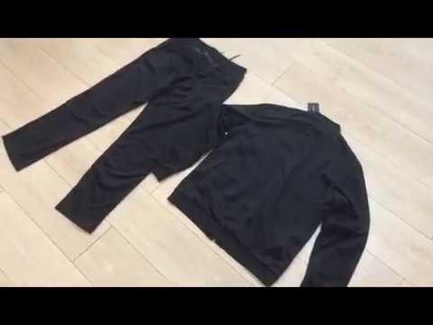 Купить спортивный мужской велюровый костюм Emporio Armani черного цвета.