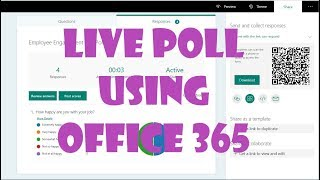 Poll Your Audience Live using Office 365 Tools