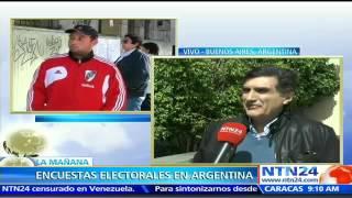 Oficialismo continúa liderando encuestas a pocos días de las elecciones presidenciales en Argentina