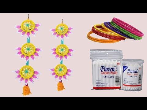 Cotton buds & Old bangles reuse idea | Bangles craft idea | DIY cotton buds | DIY arts and crafts