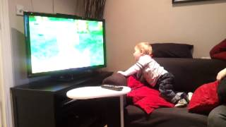Tom watches In the Night Garden