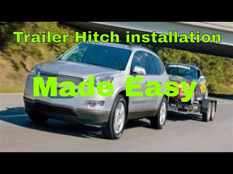 How to install trailer hitch on Chevy Traverse GMC Acadia Buick Enclave Saturn Outlook