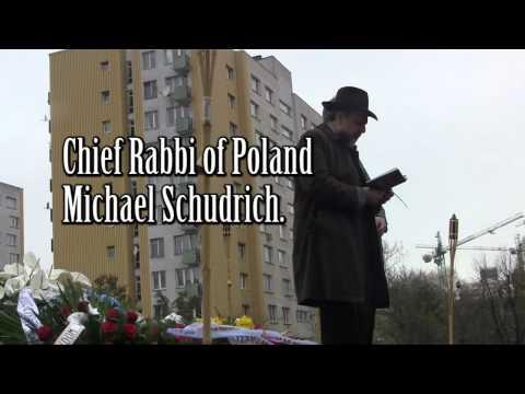 Warsaw Ghetto Uprising  69th anniversary ceremony April 19 2012.mp4