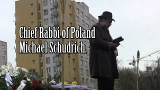 Warsaw Ghetto Uprising  69th anniversary ceremony April 19 2012.mp4
