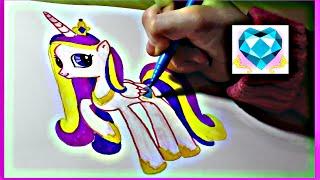 Как нарисовать пони Принцесса Каденс. How to draw a pony Princess Cadence(Привет всем ! Я люблю рисовать. Посмотрите как рисовать пони Принцесса Каденс. Все рисуют пони по разному...., 2015-01-24T10:10:49.000Z)