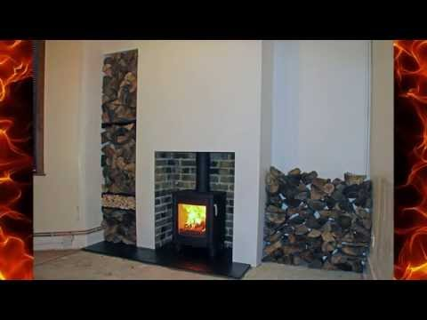 New Fireplace and Pumice lined brick chimney stack build for a wood stove