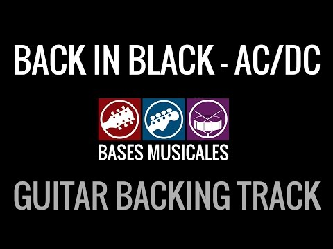 Back In Black Guitar Backing Track Pista de Acompañamiento de guitarra