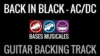Back In Black Guitar Backing Track Pista de Acompañamiento de guitarra
