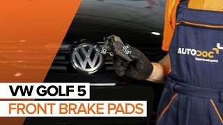 How to replace Brake pad set VW GOLF V (1K1) Tutorial