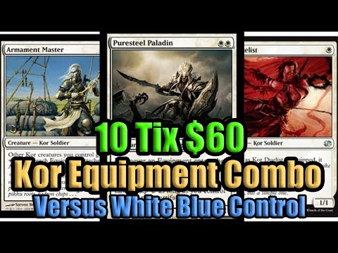 MTG Modern Kor Equipment Combo Vs Blue White Control