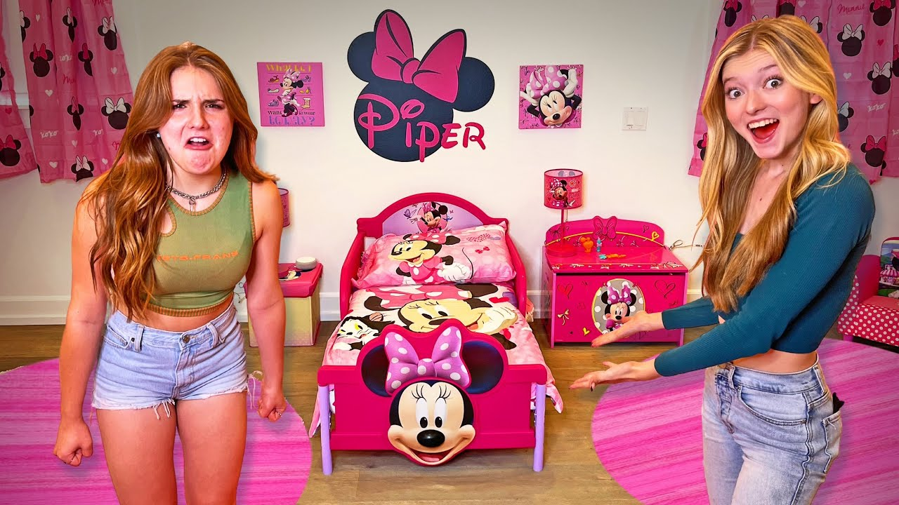 Download SURPRISING PIPER WITH A CHILDISH ROOM MAKEOVER!!!! (She Got Mad) | Piper Rockelle