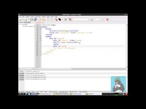 Raspberry Pi CSS HTML Geany
