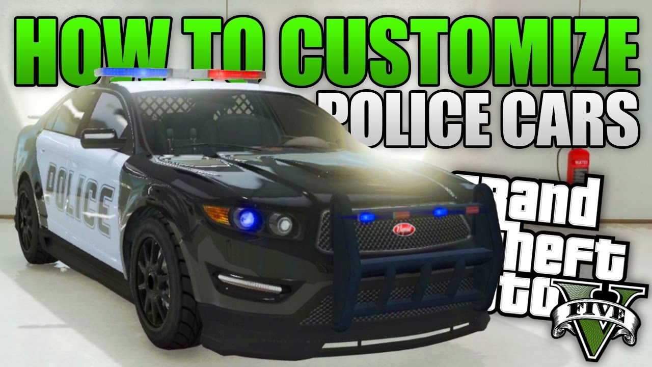 GTA 5 - HOW TO CUSTOMIZE POLICE CARS IN GTA 5 (GTA 5 Secret Tricks &  Glitches)