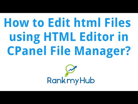How To Edit Html Files Using Html Editor In Cpanel File Manager