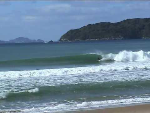 Surfing west coast New Zealand