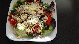 Салат с арахисом. Peanut Salad.