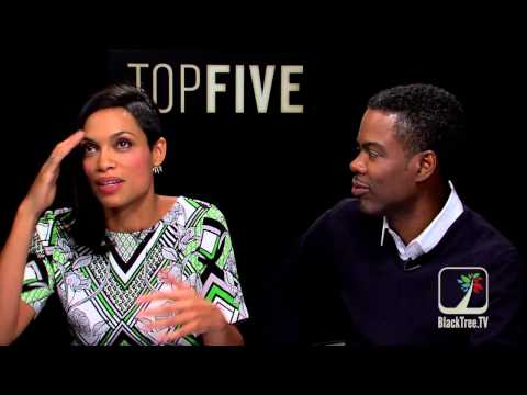 Rosario Dawson and Chris Rock TOP Five interview | Hollywood +