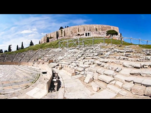 360 VR Tour | Athens | Theatre of Dionysus | Menander | Papposilenus | VR Walk | No comments tour