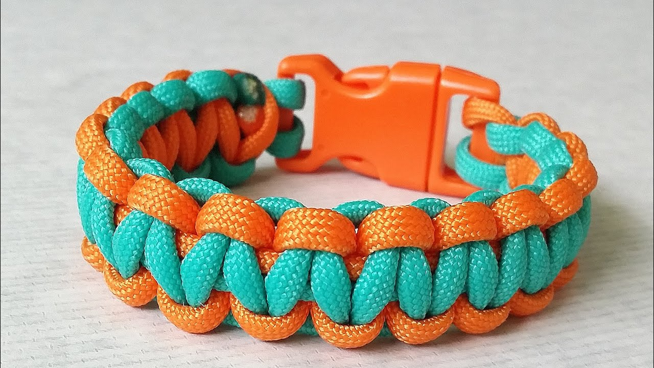 How to make cobra weave solomon bar two color paracord for What can you make out of paracord