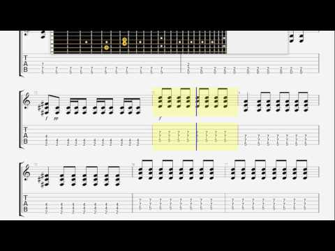 Blink 182   Toast And Bananas GUITAR TABLATURE mp3