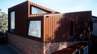 Brick Home from the 50's in Melbourne with a Corten Second Floor Addition