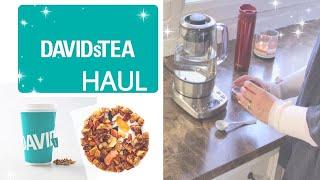 How to use the Davids Tea Press| Davids Tea Haul + claim a coupon