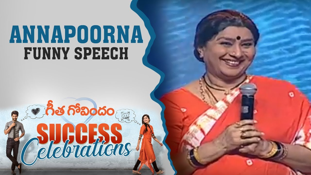 Senior Actress Annapoorna Garu Funny Speech At Geetha Govindam Success Celebrations
