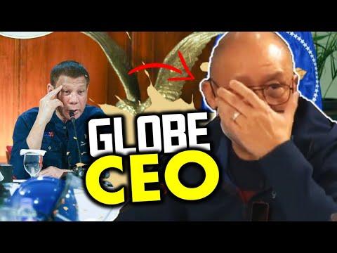 Globe CEO nanginginig na humarap kay President Duterte
