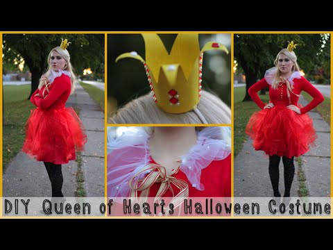 diy queen of hearts halloween costume youtube