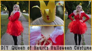 Diy Queen Of Hearts Halloween Costume