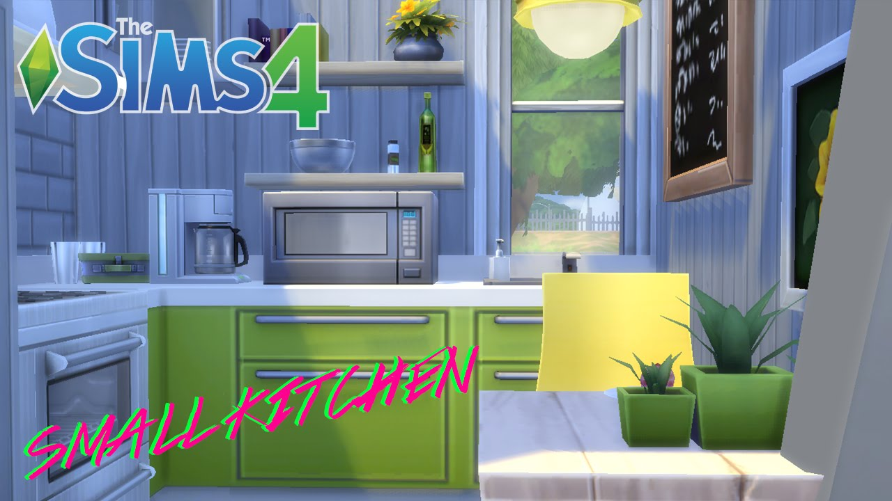 the sims 4 | compact home decor | kitchen - youtube