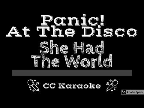 Panic At The Disco   She Had The World CC Karaoke Instrumental Lyrics