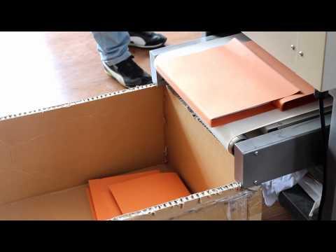 Papercraft 800TH Operation of Auto Cover Feeding  Glue Binding Machine