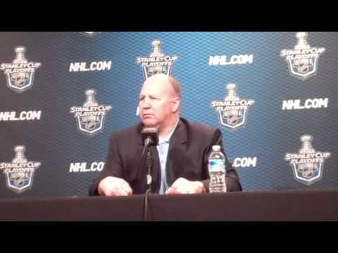 May 2 2011 Claude Julien Pregame Boston Bruins NHL Philadelphia Flyers.flv
