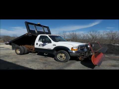2001 Ford F550 Super Duty flat dump bed truck for sale