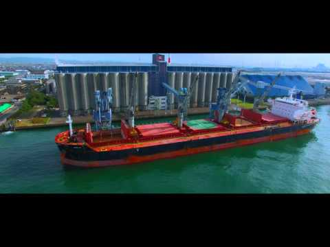 【4K】DJI PHANTOM 3  BULK CARRIER SHIP