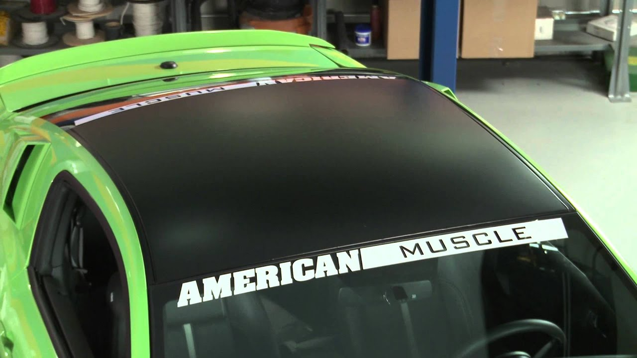 Mustang Black Boss Style Roof Decal (05-13 All) Review - YouTube