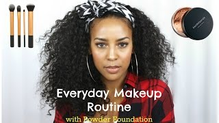 Everyday Makeup Routine for Work with Powder Foundation