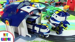 Kay Train Rail with Robot Train Adventure | 로봇트레인 케이 하우스 레일 세트 | Tayo Paw Patrol Dinosaur| ToyCampus
