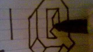 HOW TO DRAW 3D LETTERS ( Q )
