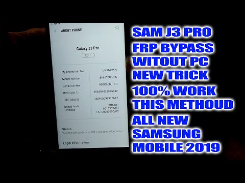 J330FN Frp Bypass Samsung J3 Pro Frp Without PC New Worked Method 100%