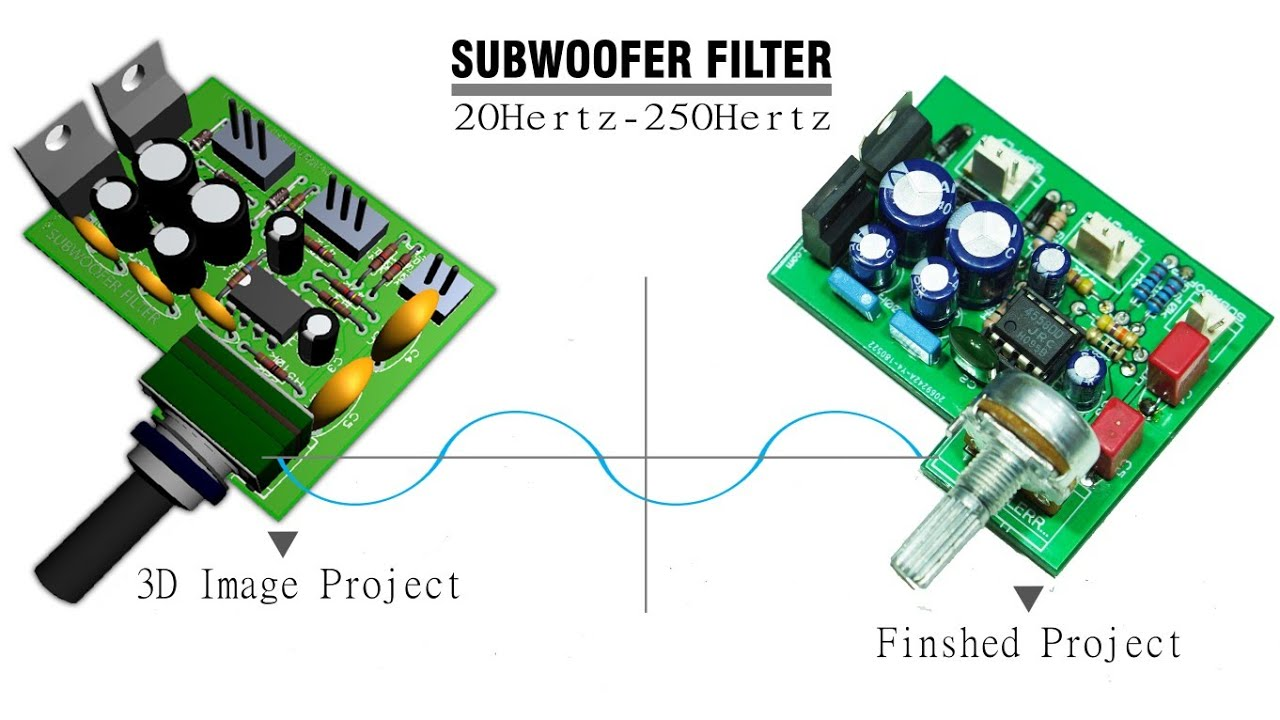 Subwoofer Filter 4558 complete Regulated Power Supply - Electronic
