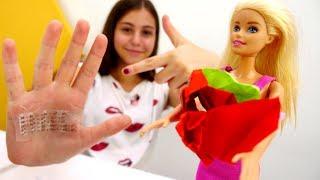 Видео для девочек - Барби готовится к контрольной - Игры в куклы